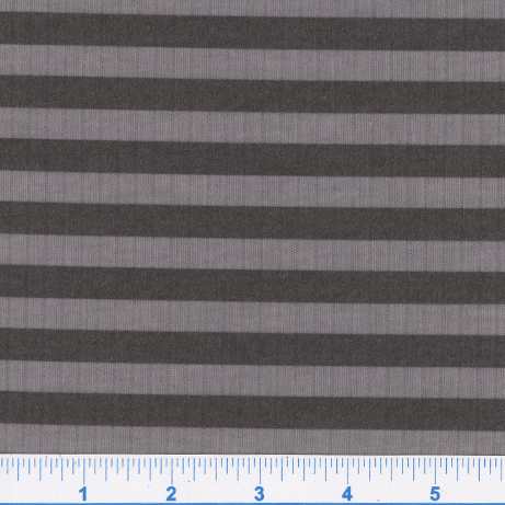 B752-WIDE STRIPE-GREY