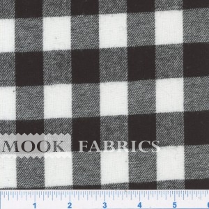 YARN DYED FLANNEL, CHECK - BLACK-WHITE