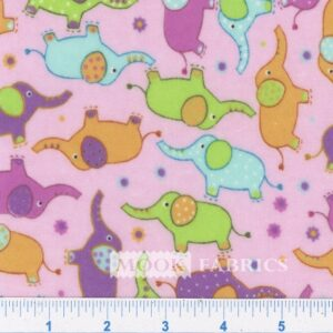 FLANNEL ELEPHANT DOTS - PINK