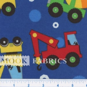 FQ CUDDLE FLANNEL, EARTH MOVERS - 108-2821