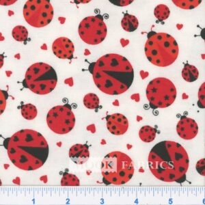 FQ CUDDLE FLANNEL, LADY BUGS - 108-2841