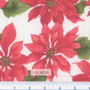 TABLETOP, POINSETTIA - 1115-01 - WHITE-RED