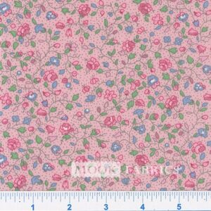 COTTON, COUNTRY FLORAL- 01 - PINK