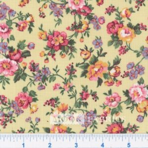 COTTON, COUNTRY FLORAL- 02 - CREAM