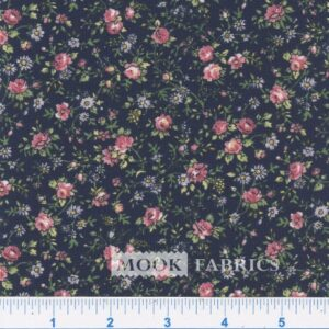 COTTON, COUNTRY FLORAL- 03 - NAVY