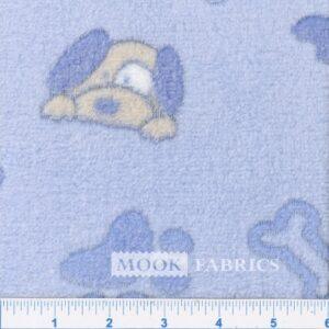 FLEECE CORAL, S29-DOG PAW - BLUE V3