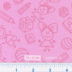 MELODY PRT FLANNEL, BABY - PINK
