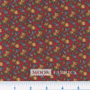 COTTON, COUNTRY FLORAL- 05 - RED