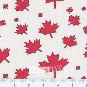 COTTON, CANADA LEAF - WHITE
