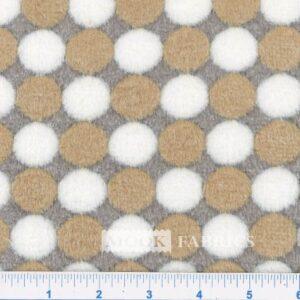 FLEECE CORAL EMBOSSED, FC7481 SPOTS - BROWN